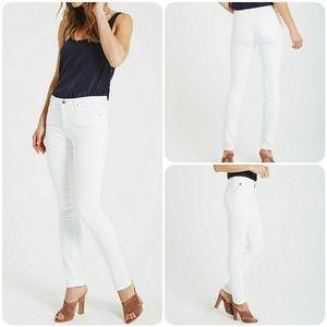 AG White Prima Midrise Cigarette jeans